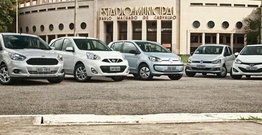 Ford Ka vs. Nissan March, VW Up!, VW Fox e Hyundai HB20