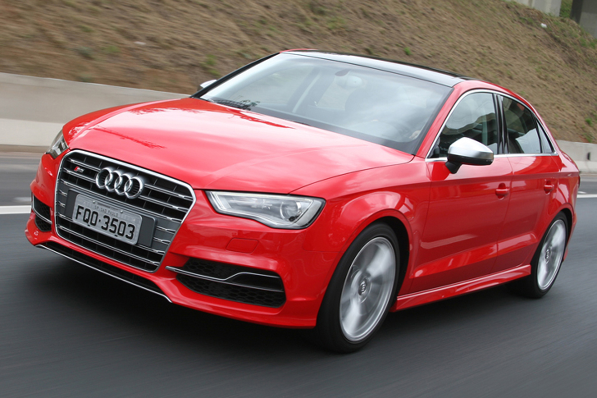 Audi S3 Sedan 2.0  – R$ 226.190  Mais caro, o Audi S3 tem 286 cv e tração integral; 0-100 km/h em 4s9.