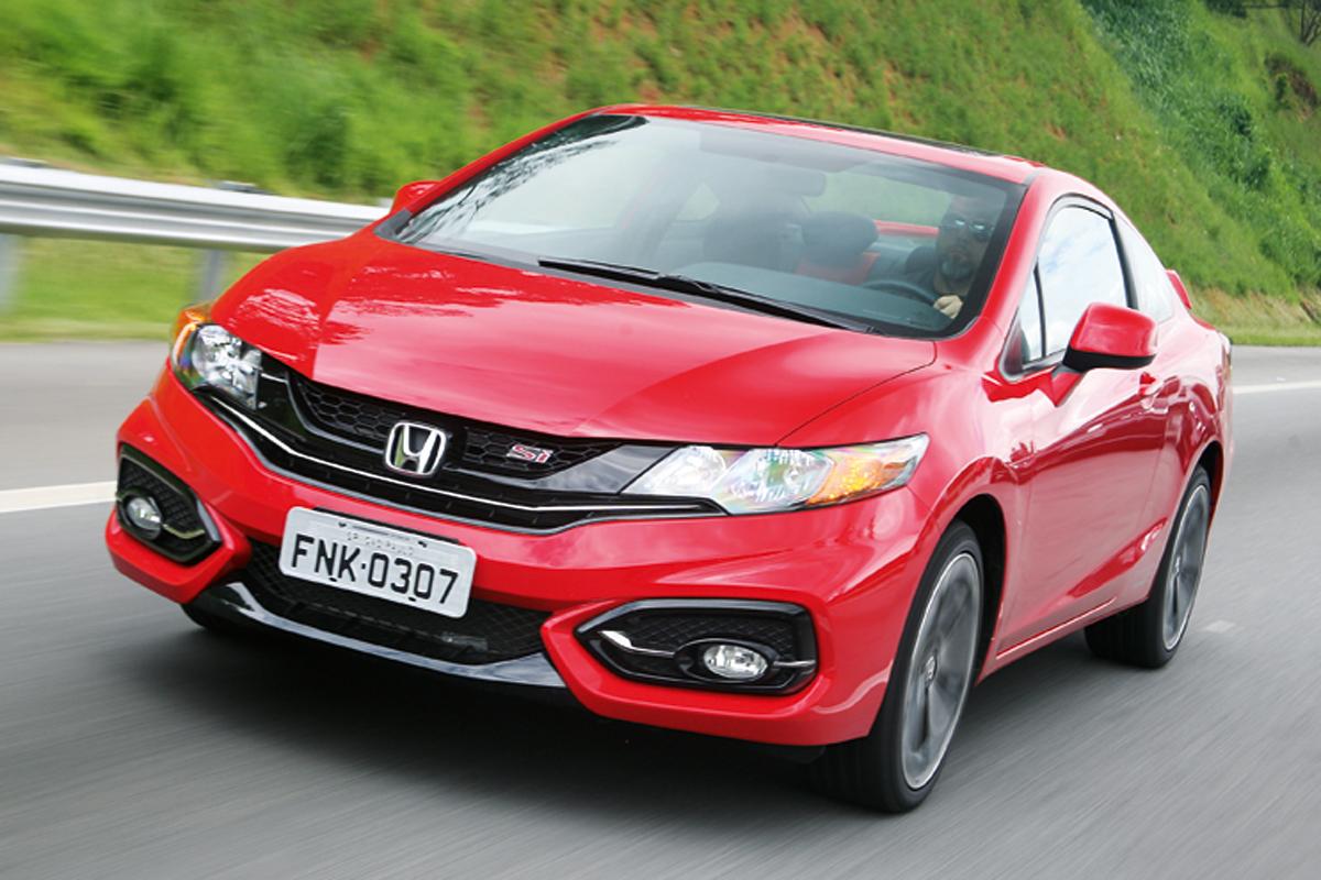 Honda Civic Si – R$ 124.000  Mais barato e com 206 cv no motor, faz 0-100 km/h em cerca de 8 segundos