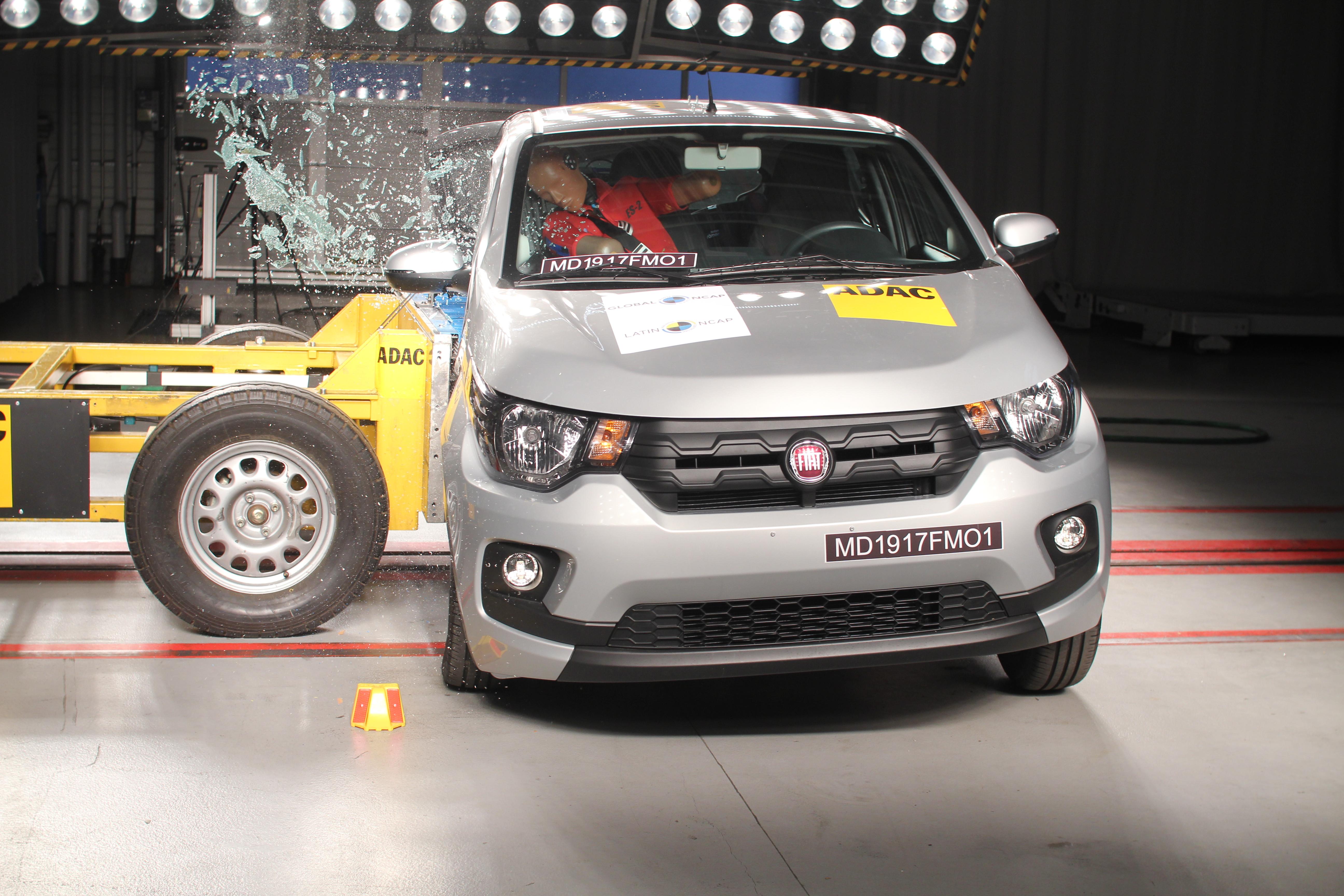 Fiat Mobi decepciona em teste de segurança e tem apenas uma estrela