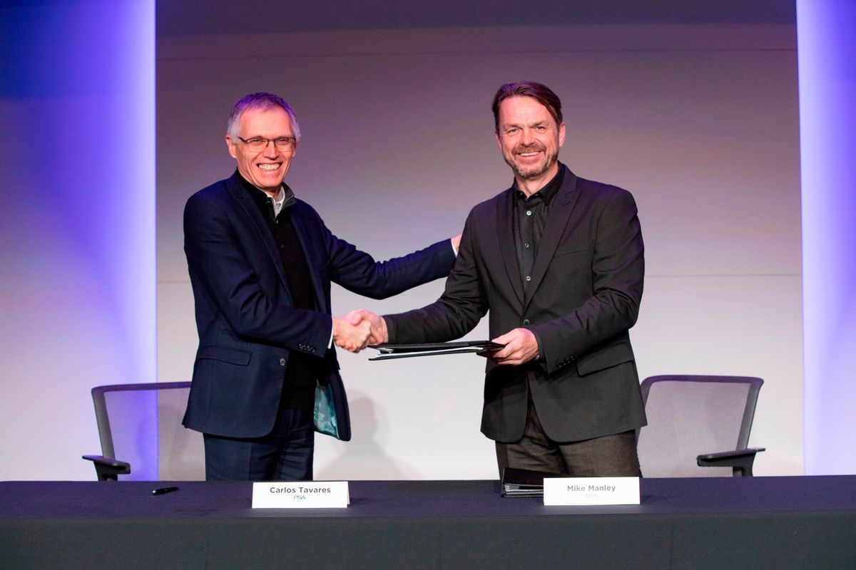 Acordo de fusão entre PSA e FCA