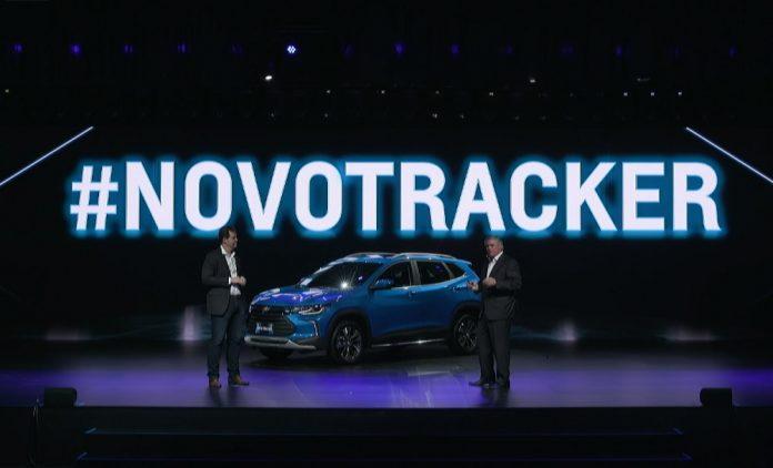 O novo Tracker durante sua apresentação virtual