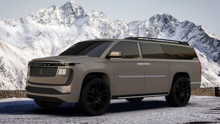 Rival do Escalade, o Triton Model H é um SUV puramente elétrico