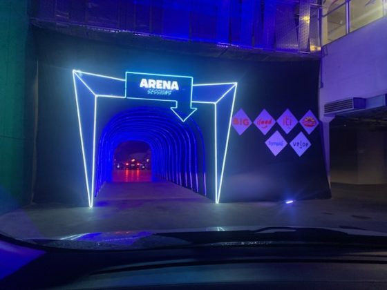Expectativa: o túnel que dá entrada para o gramado do Allianz Parque. Foto: Hélio Gomes