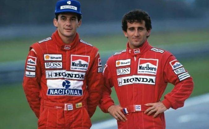 Você sabia que o Tema da Vitória de Senna (esq.) já tocou para uma conquista de Prost (dir.)