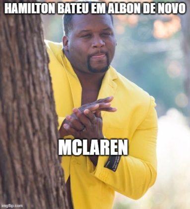 Memes da F1: Hamilton bateu de novo em Albon, e que se deu bem foi a McLaren
