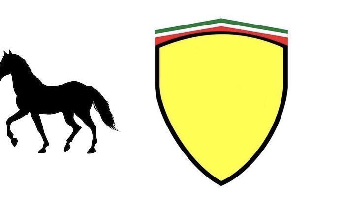 Um dos novos logos cogitados para a Ferrari