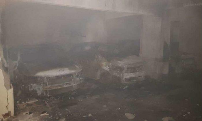 Incêndio em garagem de prédio em MG destrói sete carros
