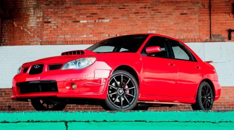 Subaru WRX 2006 filme Baby Driver
