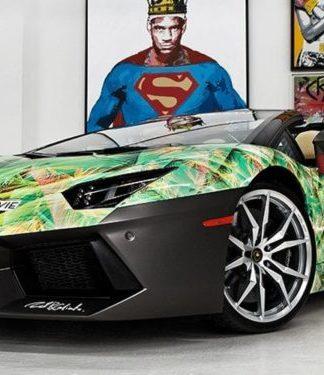 Lamborghini Aventador com pintura customizada inspirada em tênis de LeBron faz parte de sua coleção de carros